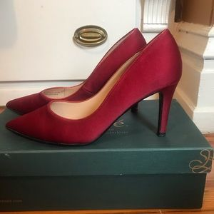 J Renee red pointed-toe 3 inch stiletto heel